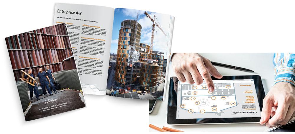 Lindpro profilbrochure til iPad